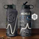 Workout Personalized MDA0511005 Stainless Steel Bottle With Straw Lid