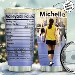 Volleyball Facts Personalized MDA0511010 Stainless Steel Tumbler