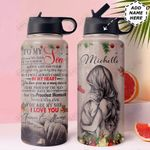 To Son Personalized MDA0511003 Stainless Steel Bottle With Straw Lid