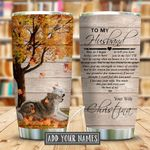 Wolf Couple Heart Personalized KD2 KHM0511007 Stainless Steel Tumbler