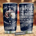 God Nation Personalized KD2 HNM0511003 Stainless Steel Tumbler
