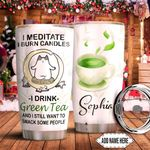 Green Tea Cat Personalized TTR0511018 Stainless Steel Tumbler