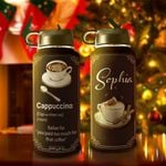 Cappuccino Personalized TTR0511014 Stainless Steel Bottle With Straw Lid