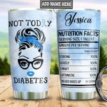 Personalized Not Today Diabetes TAZ0511015 Stainless Steel Tumbler
