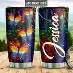 Personalized Colorful Butterfly HLZ0511009 Stainless Steel Tumbler