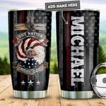 Personalized Firefighter One Nation Under God PYZ0511014 Stainless Steel Tumbler