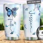 Personalized Butterfly Diabetes Faith PYZ0511008 Stainless Steel Tumbler