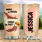 Dachshund Yoga Personalized KD2 HRX0511006 Stainless Steel Tumbler