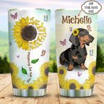 Dachshund Sunflower Personalized KD2 BGX0511004 Stainless Steel Tumbler