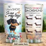 Dachshund Sunflower Personalized KD2 HRX0511005 Stainless Steel Tumbler