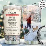 To My Son Christmas Personalized HTC0611011 Stainless Steel Tumbler