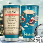 To My Daughter Christmas HTQ0611010 Stainless Steel Tumbler