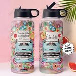 Writer Personalized NNR0611004 Stainless Steel Bottle With Straw Lid