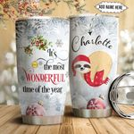 Sloth Christmas Personalized NNR0611014 Stainless Steel Tumbler