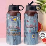 Volleyball Personalized THA0611019 Stainless Steel Bottle With Straw Lid