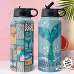 Mermaid Personalized MDA0611005 Stainless Steel Bottle With Straw Lid