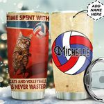 Volleyball Cat Personalized MDA0611016 Stainless Steel Tumbler