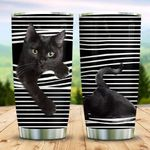 Black Cat Climb The Curtains KD2 MAL0611002 Stainless Steel Tumbler