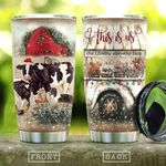 Cattle Farm In Christmas KD2 HAL0611004 Stainless Steel Tumbler
