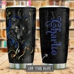 Magical Wolf Leather Style Personalized KD2 KHM0611003 Stainless Steel Tumbler