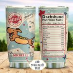 Dachshund Hot Dog Personalized KD2 BGX0611002 Stainless Steel Tumbler