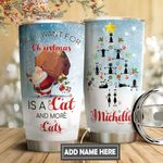 Christmas Black Cat Personalized DNS0611011 Stainless Steel Tumbler