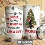 Christmas Black Cat Personalized DNS0611012 Stainless Steel Tumbler