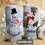 Christmas Snowman Personalized DNS0611017 Stainless Steel Tumbler