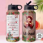 Christmas Letter To Santa Personalized DNS0611006 Stainless Steel Bottle With Straw Lid