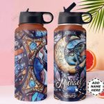 Elephant And Crescent Moon Personalized DNS0611010 Stainless Steel Bottle With Straw Lid