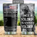 Personalized Veteran Nutrition Facts TAZ0611018 Stainless Steel Tumbler