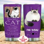 Cat Advices Personalized KD2 MAL0911001 Stainless Steel Tumbler