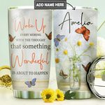 Butterfly Personalized DNR0911003 Stainless Steel Tumbler