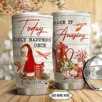 Christmas Cardinal Personalized NNR0911004 Stainless Steel Tumbler