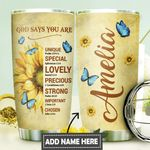 Sunflower Faith Personalized DNR0911014 Stainless Steel Tumbler