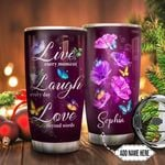 Faith Butterfly Personalized TTR0911007 Stainless Steel Tumbler