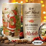 Best Friend Santa Claus Personalized HTQ0911001 Stainless Steel Tumbler