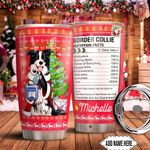 Christmas Border Collie Facts Personalized HTC0911002 Stainless Steel Tumbler