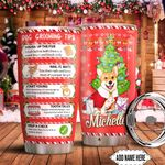 Christmas Corgi Knows Personalized HTC0911005 Stainless Steel Tumbler