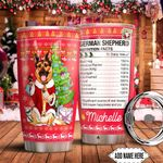 Christmas German Shepherd Facts Personalized HTC0911006 Stainless Steel Tumbler