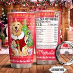 Christmas Golden Retriever Facts Personalized HTC0911008 Stainless Steel Tumbler