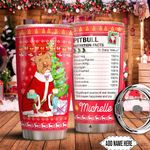 Christmas Pitbull Facts Personalized HTC0911010 Stainless Steel Tumbler