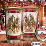 Horse Christmas Personalized HTQ0911014 Stainless Steel Tumbler