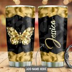 Personalized Butterfly Diamond Style HLZ0911001 Stainless Steel Tumbler