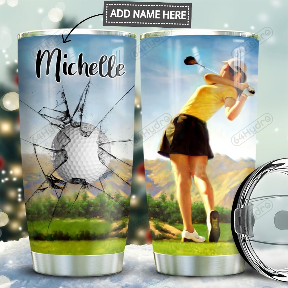 Golf Girl Personalized MDA0911004 Stainless Steel Tumbler