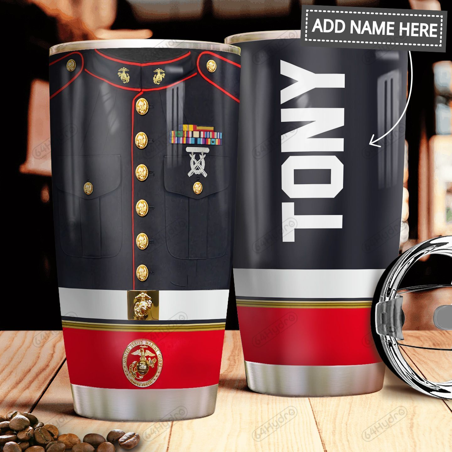 Marine Uniform Personalized MDA0911006 Stainless Steel Tumbler