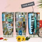 Swiming License Personalized THA0911024 Stainless Steel Tumbler