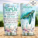 Sea Turtle Advice Personalized KD2 BGX0911005 Stainless Steel Tumbler