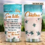 Baby Sea Turtle Advice Personalized KD2 HRX0911003 Stainless Steel Tumbler