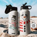 Snowman TTR0911037 Stainless Steel Bottle With Straw Lid